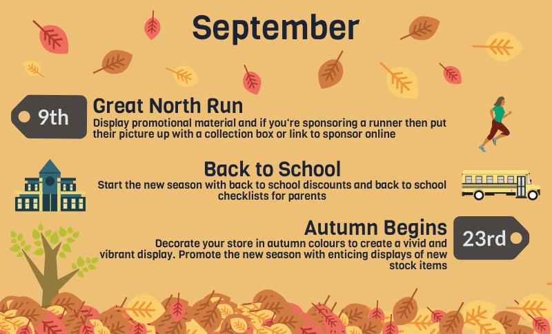 2018 events calendar for uk retailers september