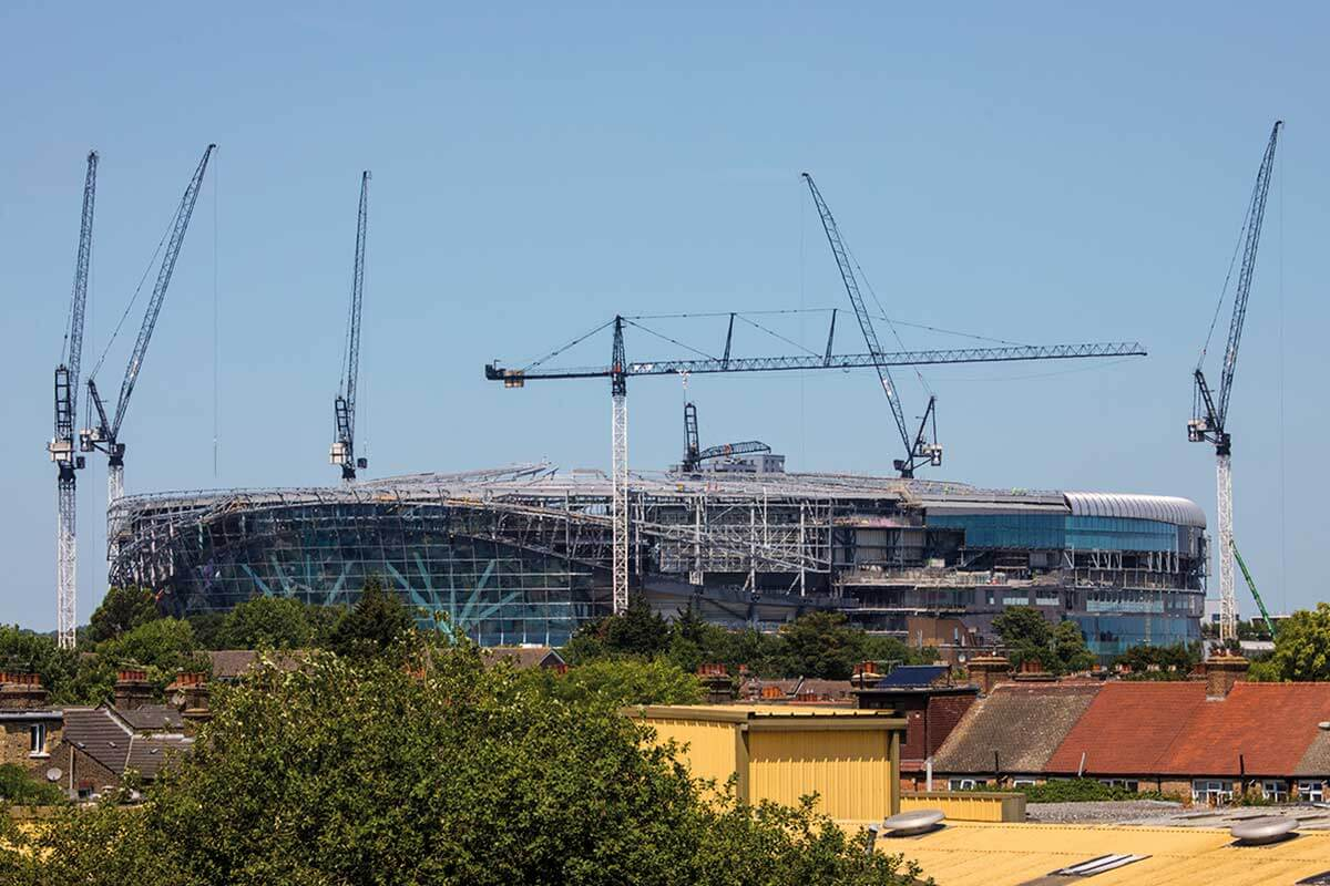tottenham hotspur stadium construction