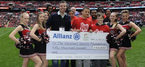 Allianz support saracens at wembley